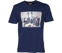 Herren Distorted Sound Of Rock & Roll T-Shirt Navy