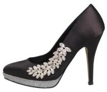 Little Mistress Womens Detail Court Shoe Black