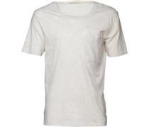 Herren T-Shirt Naturweißmeliert