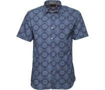Ted Baker Mens Bcrumbs Large Paisley Print Shirt Navy