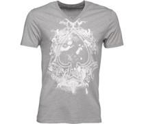 Herren King Of Spades Graphic T-Shirt Hellgrau