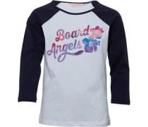 Board Angels Mädchen 3/4 Raglan Top Weiß