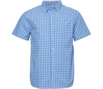 Gingham Karo Hemd mit kurzem Arm Blau