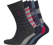 Herren 5 Pack Socken Graumeliert