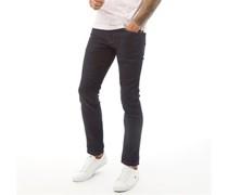 Denim Jeans in Slim Passform Dunkel Denim