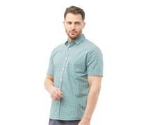 Hemd mit kurzem Arm Blaugrün