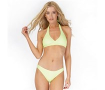 Only Damen Caroline Halter Neck Bikini Gelb