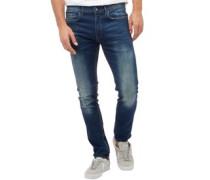 Herren Laundry Skinny Jeans Blau