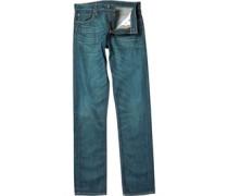 Herren 504 Jeans mit geradem Bein Mittelblau