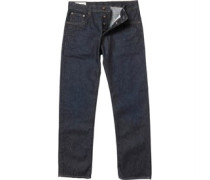 Ben Sherman Herren The Cobden Straight Leg Dry Rub Jeans mit geradem Bein Dry Rub Indigo