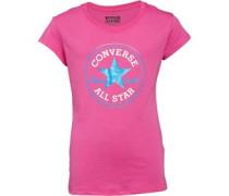 Converse Mädchen Chuck Patch Plastic T-Shirt Rosa