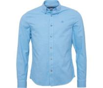 Timberland Herren Brushed Hemd Mit Langem Arm Blau