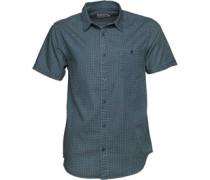 Herren Washed Denim Hemd mit kurzem Arm Denim