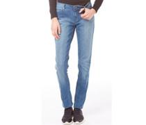 Damen Jeans mit geradem Bein Blue Denim