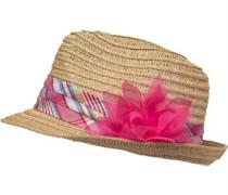 Mädchen Flower Trim Trilby Beanie Mütze Natural