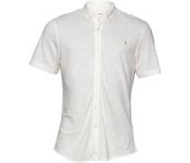 Farah Vintage Herren yton Slim Hemd mit kurzem Arm Ecru