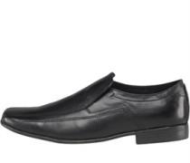 Onfire Mens Slip On Leather Shoe Black