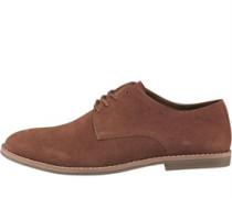 Herren Suede Derby Schuhe Hellbraun
