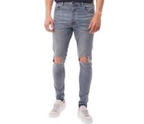 Herren McRea Ripped Skinny Jeans Blau