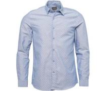 Herren Thornhill Hemd mit langem Arm Denimmeliert Blau
