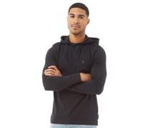 Hood Crown Top mit langem Arm Dunkelnavy