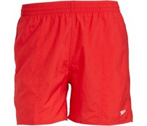 Solid Leisure 16 Inch Water Shorts Red