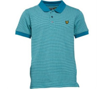 Lyle And Scott Boys Multi Coloured Birdseye Polo Pagoda Blue