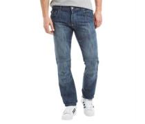 Herren Newport Jeans mit geradem Bein Stone Wash