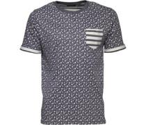 Herren T-Shirt Navymeliert