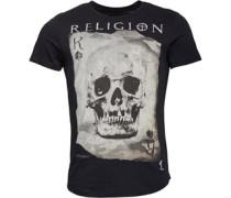 Herren Skull Card T-Shirt Schwarz