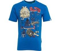 Original Penguin Junior Camping T-Shirt Snorkel Blue