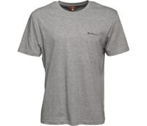 Gestickt T-Shirt Graumeliert