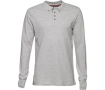 Mens Lincoln Long Sleeve Polo Shirt Sport Marl