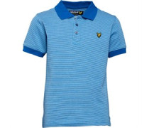 Lyle And Scott Boys Multi Coloured Birdseye Polo Deep Cobalt