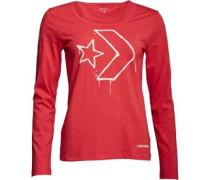 Damen Star Chevron Top mit langem Arm Rot