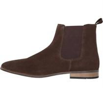 Suede Chelsea Schuhe Dunkel