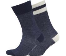Herren Stripe 2 Pack Socken Indigo