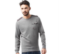 Duck and Cover Herren Reilly Mid Sweatshirt Mid Grey Marl