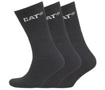 Herren 3er Pack Socken Schwarz