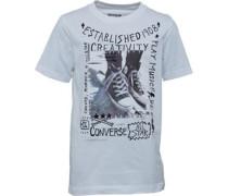 Jungen Doodle Photo Chuck T-Shirt Weiß