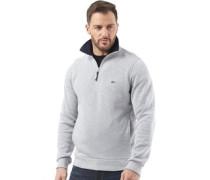 Herren Half Zip Sweatshirt Grau