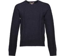 Original Penguin Mens 7GG Wool Blend Cable Knit Sweater Dark Sapphire