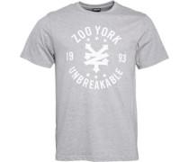Zoo York Herren Arto Heritage Logo Atletic T-Shirt Grau