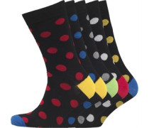 Herren Fünf Pack Socken Schwarz