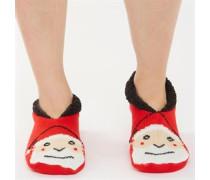 Damen Santa Hausschuhe Rot