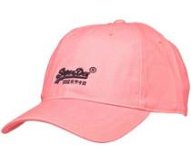 Herren Chino Twill Label Mütze Rosa