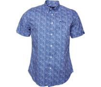 Printed Poplin Hemd mit kurzem Arm
