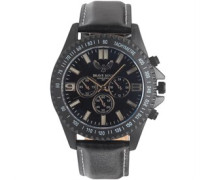 Herren Chronograph Armbanduhr Schwarz