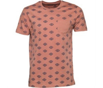 Mens Berdan All Over Print T-Shirt Winter Pink/Navy
