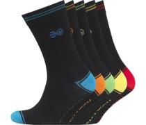 Herren Chevy 5 Packung Socken Schwarz